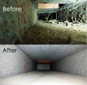 Duct Cleaning Before and After Photos